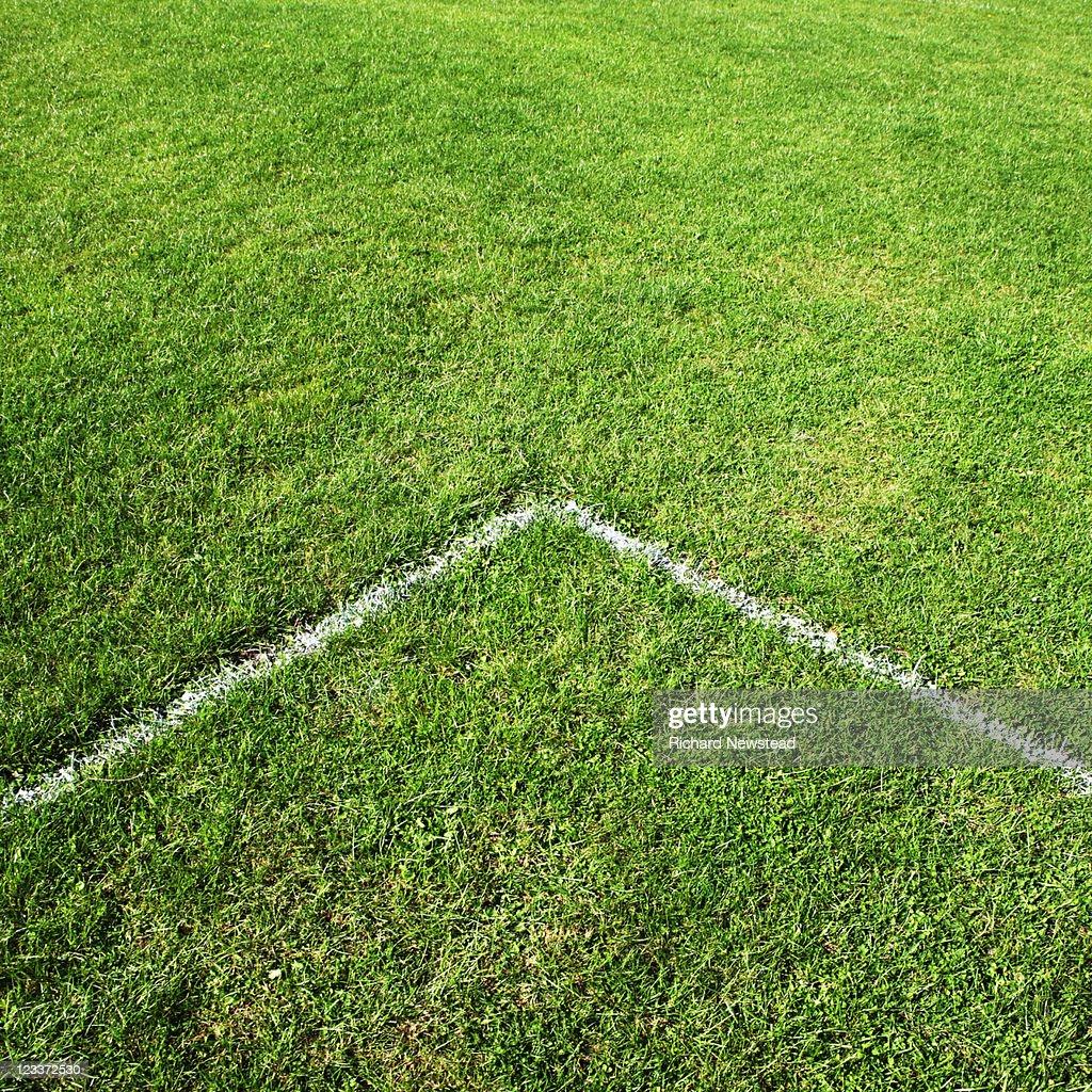 Football pitch line : Stock Photo