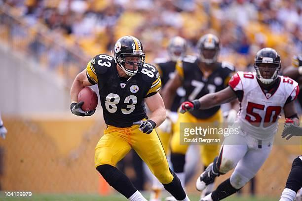 Pittsburgh Steelers Heath Miller in action vs Atlanta Falcons Pittsburgh PA 9/12/2010 CREDIT David Bergman