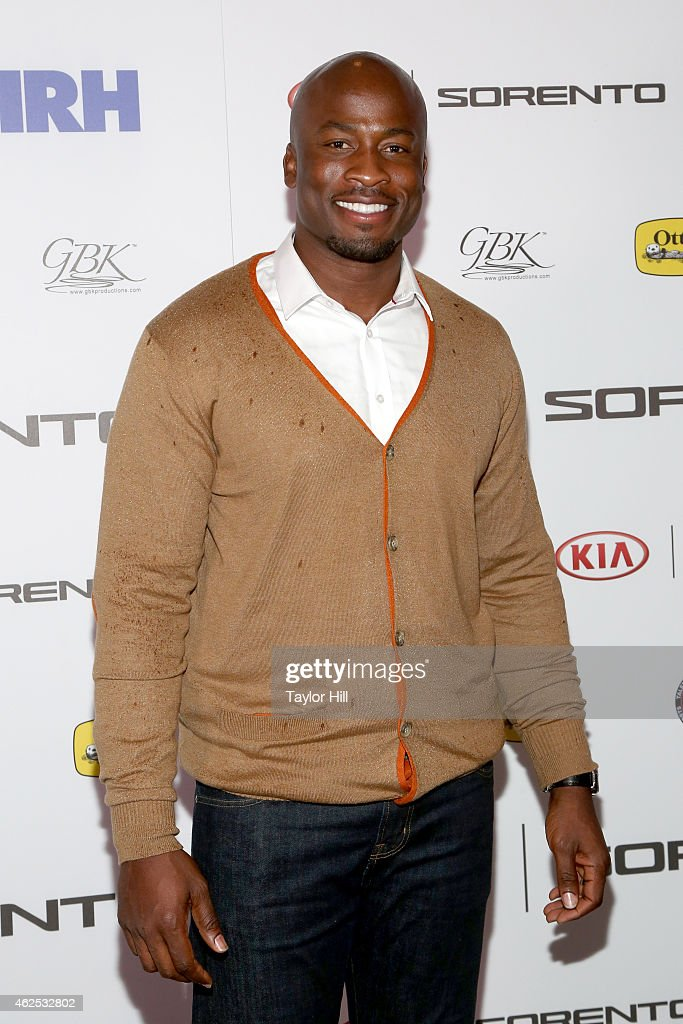 Football player Akbar Gbajabiamila attends day one of the Kia Luxury Lounge presented by ZIRH at Scottsdale Center for Performing Arts on January 30...