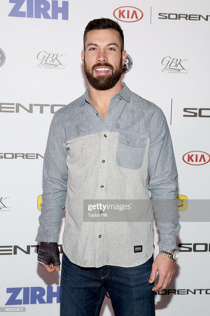 Football player Andrew Sendejo attends day one of the Kia Luxury Lounge presented by ZIRH at Scottsdale Center for Performing Arts on January 30 2015...