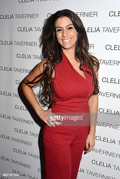 Football player Bacary Sagna's Wife Ludivine Sagna attends the 'Maison Clelia Tavernier' Accessories Launch Cocktail at Aloha Shop Rue Faubourg Saint...