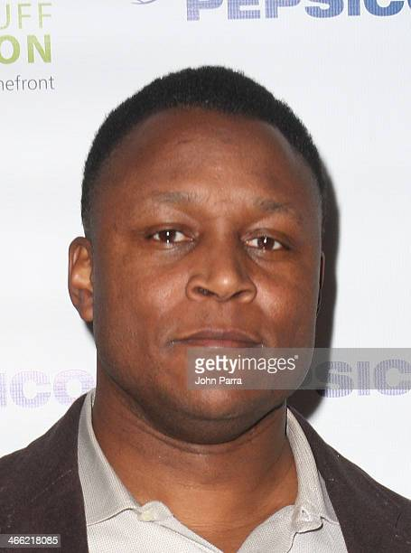 Football player Barry Sanders attends PepsiCo Honors Bob Woodruff Foundation With Blake Shelton Concert from #PEPCITY at Bryant Park on January 31...