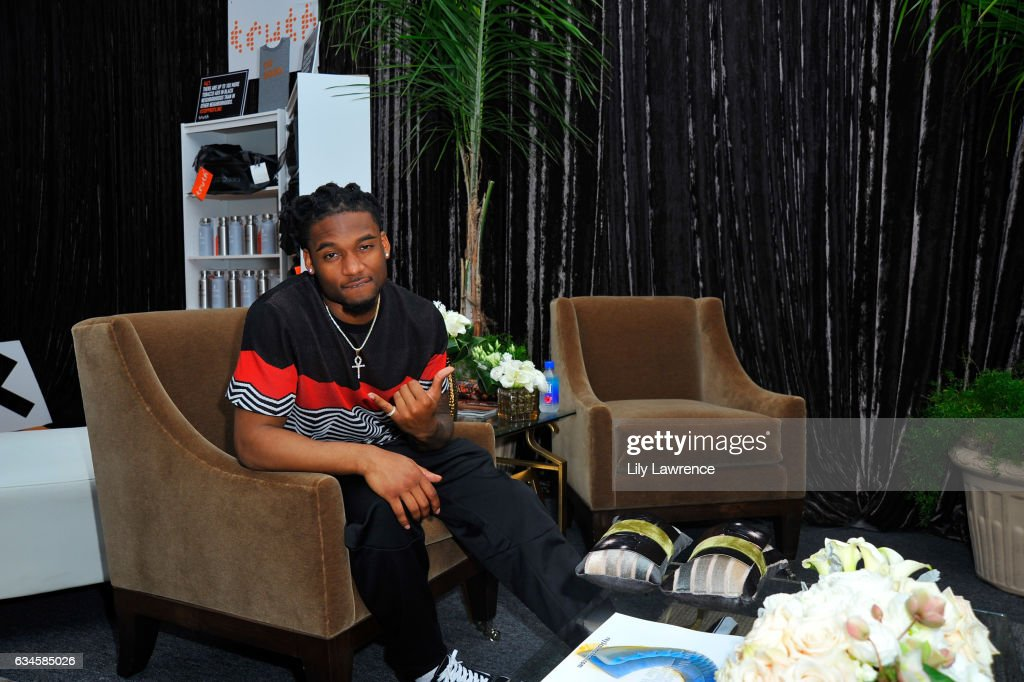 Football player Bradley Roby attends GRAMMY Gift Lounge during the 59th GRAMMY Awards at STAPLES Center on February 9, 2017 in Los Angeles, California.