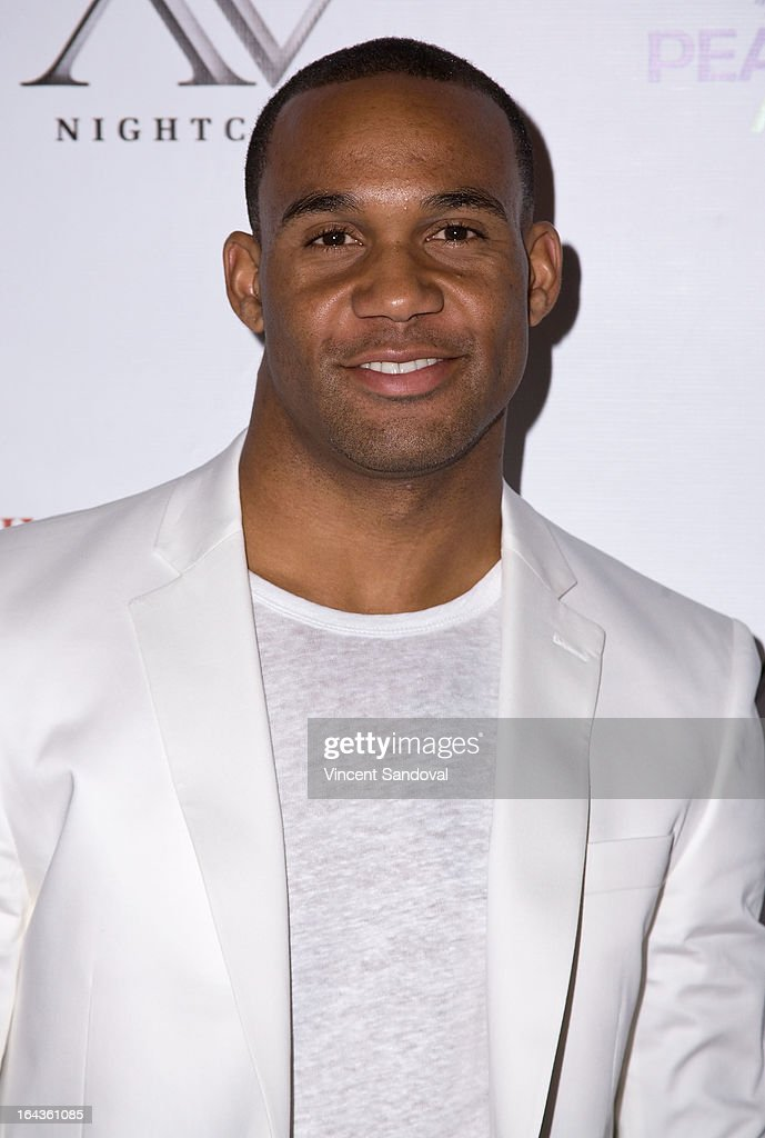 Football player Bret Lockett attends the Viva Glam Magazine April launch party in support of Peace 4 Animals at AV on March 22, 2013 in Hollywood, California.