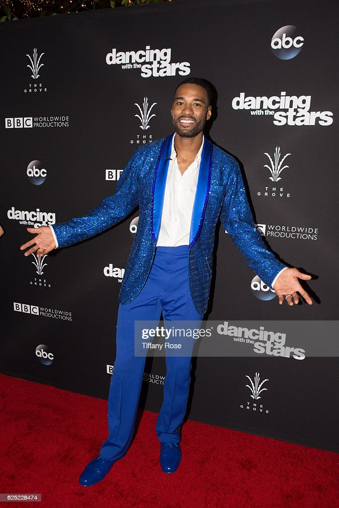 Football player Calvin Johnson Jr. attends the 'Dancing With The Stars' live finale at The Grove on November 22, 2016 in Los Angeles, California.