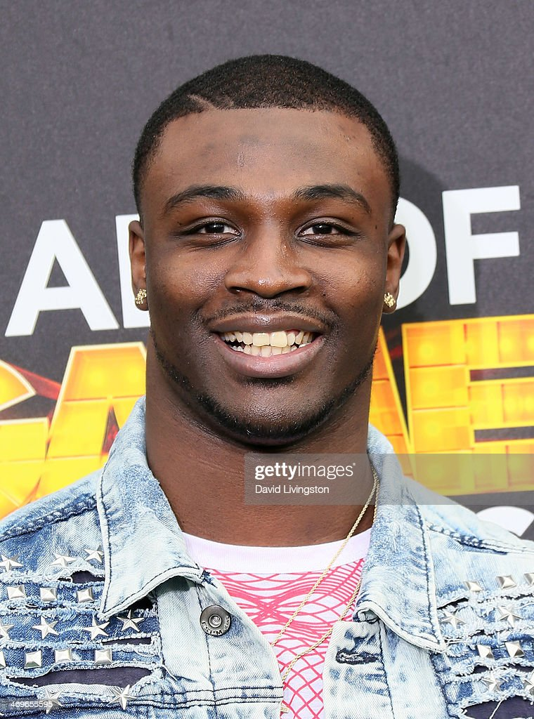 Football player <a gi-track='captionPersonalityLinkClicked' href=/galleries/search?phrase=Chris+Davis+-+American+Football+Cornerback&family=editorial&specificpeople=15200244 ng-click='$event.stopPropagation()'>Chris Davis</a> attends Cartoon Network's Hall of Game Awards at Barker Hangar on February 15, 2014 in Santa Monica, California.