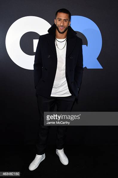 Football player Colin Kaepernick attends GQ and LeBron James Celebrate AllStar Style on February 14 2015 in New York City