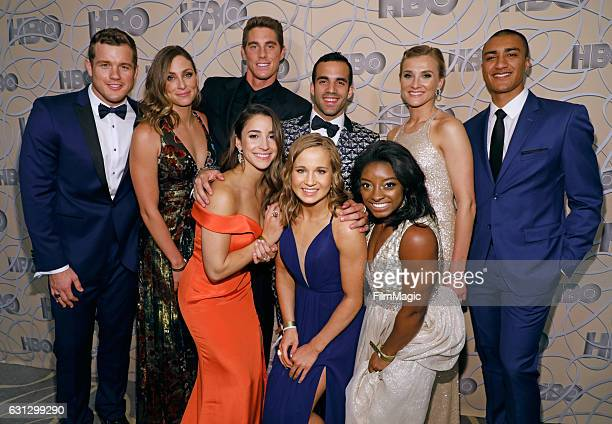 Football player Colton Underwood Guest swimmer Conor Dwyer gymnast Aly Raisman gymnast Danell J Leyva gymnast Madison Kocian gymnast Simone Biles...