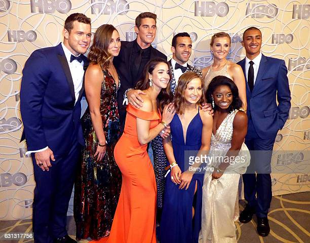 Football player Colton Underwood guest swimmer Conor Dwyer gymnast Aly Raisman gymast Danell Leyva gymnast Madison Kocian gymnast Simone Biles...