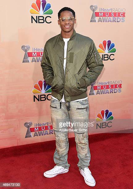 Football player Cordell Broadus arrives at the 2015 iHeartRadio Music Awards at The Shrine Auditorium on March 29 2015 in Los Angeles California