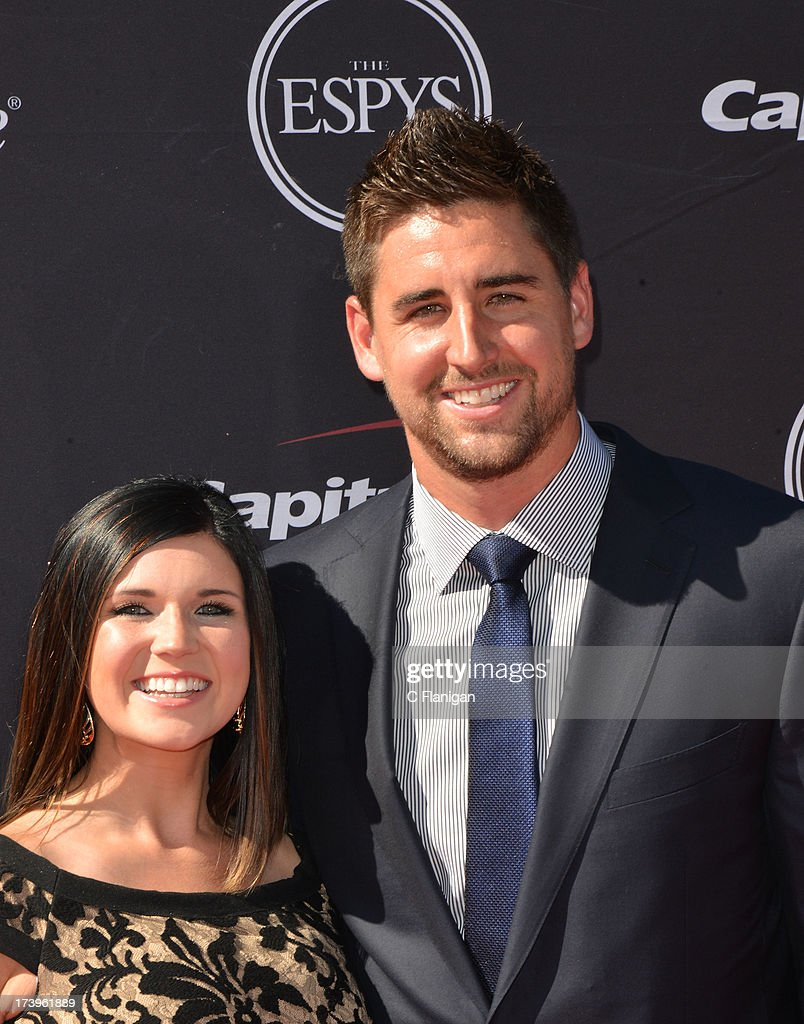 Football player <a gi-track='captionPersonalityLinkClicked' href=/galleries/search?phrase=Dennis+Pitta&family=editorial&specificpeople=5516841 ng-click='$event.stopPropagation()'>Dennis Pitta</a> arrives at the 2013 ESPY Awards at Nokia Theatre L.A. Live on July 17, 2013 in Los Angeles, California.