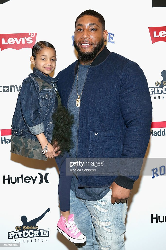 Football player <a gi-track='captionPersonalityLinkClicked' href=/galleries/search?phrase=Devon+Still&family=editorial&specificpeople=6400915 ng-click='$event.stopPropagation()'>Devon Still</a> poses with daughter <a gi-track='captionPersonalityLinkClicked' href=/galleries/search?phrase=Leah+Still&family=editorial&specificpeople=13710716 ng-click='$event.stopPropagation()'>Leah Still</a> backstage at the Rookie USA Presents Kids Rock! Fall 2016 fashion show during New York Fashion Week: The Shows at The Dock, Skylight at Moynihan Station on February 11, 2016 in New York City.
