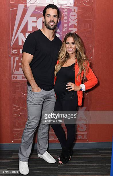 Football player Eric Decker and singer Jessie James Decker visit FOX and Friends at FOX Studios on May 1 2015 in New York City