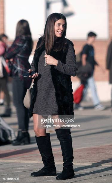 Football player Fernando Torres's wife Olalla Dominguez is seen on December 15 2015 in Madrid Spain