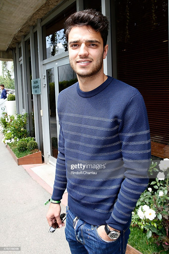 Football Player from 'Olympique Lyonnais' <a gi-track='captionPersonalityLinkClicked' href=/galleries/search?phrase=Clement+Grenier&family=editorial&specificpeople=5774493 ng-click='$event.stopPropagation()'>Clement Grenier</a> attends the 2015 Roland Garros French Tennis Open - Day Eleven, on June 3, 2015 in Paris, France.