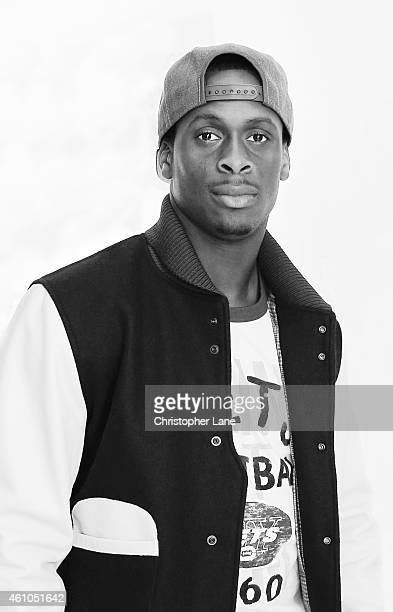 Football player Geno Smith is photographed at the NFL Inaugural Hall of Fashion Launch Event on September 17 2014 at Pillars 37 in New York City