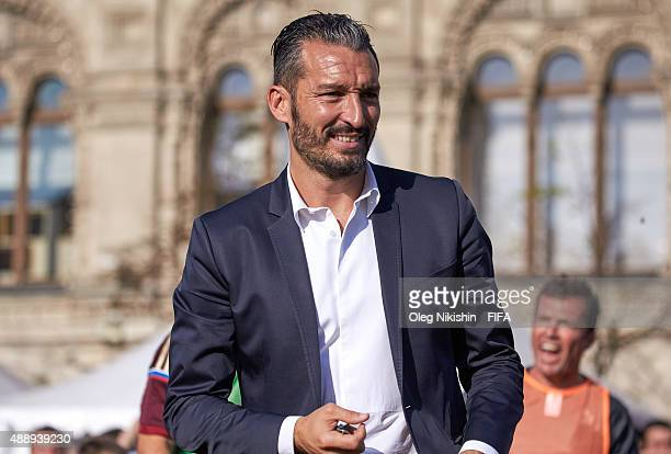 Football player Gianluca Zambrotta during FIFA '1000 Days to Go' Russia 2018 at the Red Square on September 18 2015 in Moscow Russia