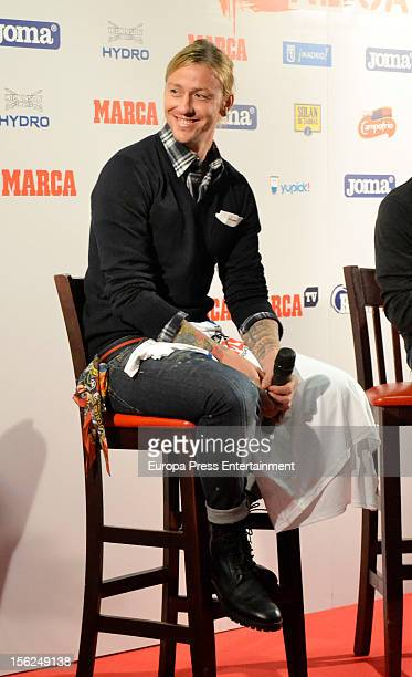 Football player Guti attends the presention of the race 'Marca Derbi de las aficiones' on November 8 2012 in Madrid Spain