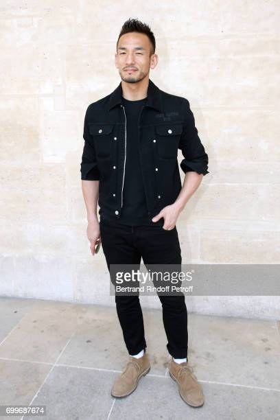 Football player Hidetoshi Nakata attends the Louis Vuitton Menswear Spring/Summer 2018 show as part of Paris Fashion Week on June 22 2017 in Paris...