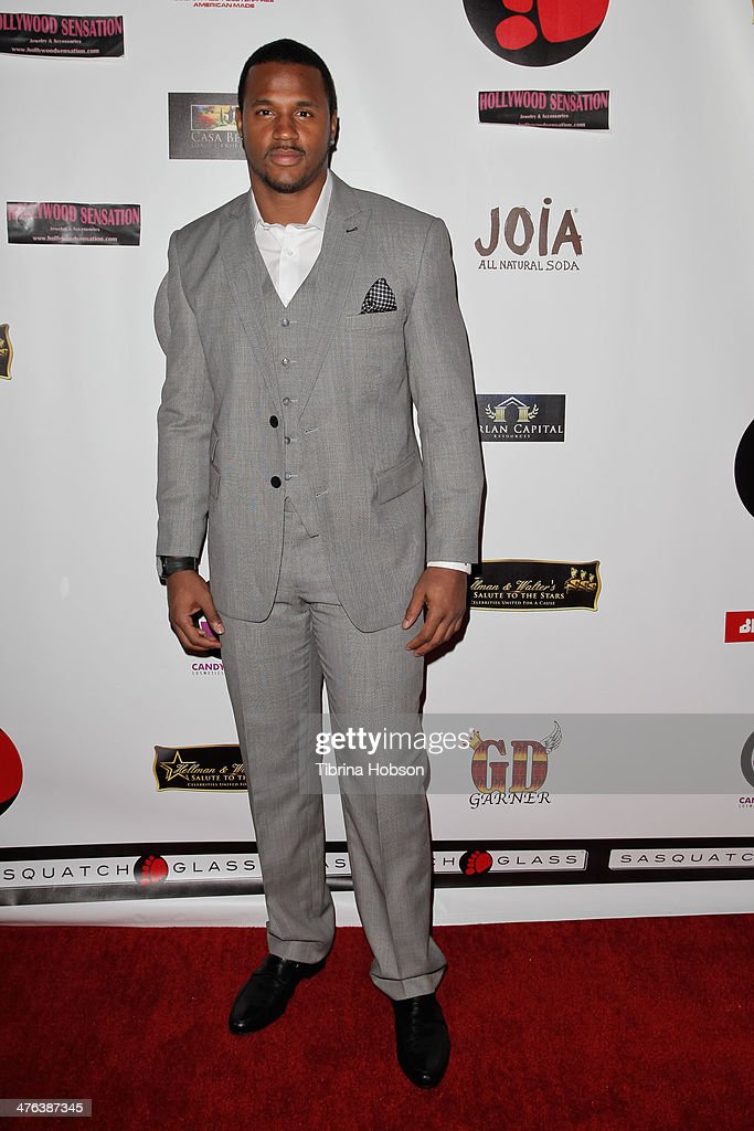 Football player James Anderson attends the 4th annual salute to the stars Oscar party at W Hollywood on March 2, 2014 in Hollywood, California.