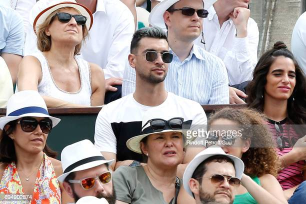 Football player Javier Pastore attends the Men Final of the 2017 French Tennis Open Day Fithteen at Roland Garros on June 11 2017 in Paris France