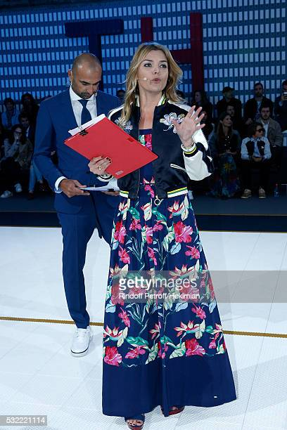 Football player Jerome Alonzo and actress Justine Fraioli animate the Tommy Hilfiger hosts Tommy X Nadal Party Tennis Soccer match on May 18 2016 in...