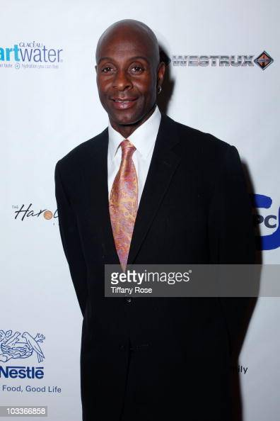 Football player Jerry Rice arrives at the 10th Annual Harold Pump Foundation Gala on August 12 2010 in Century City California