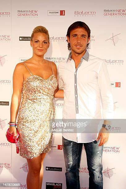 Football player Joan Verdu attends the 'Salerm Cosmetics New Generation by Francina' on July 3 2012 in Barcelona Spain