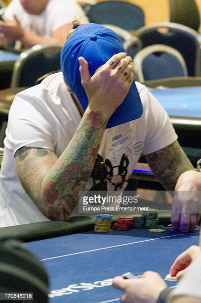 Football player Jose Maria Gutierrez 'Guti' attends Stars Poker Tour Tournament on June 13 2013 in Marbella Spain