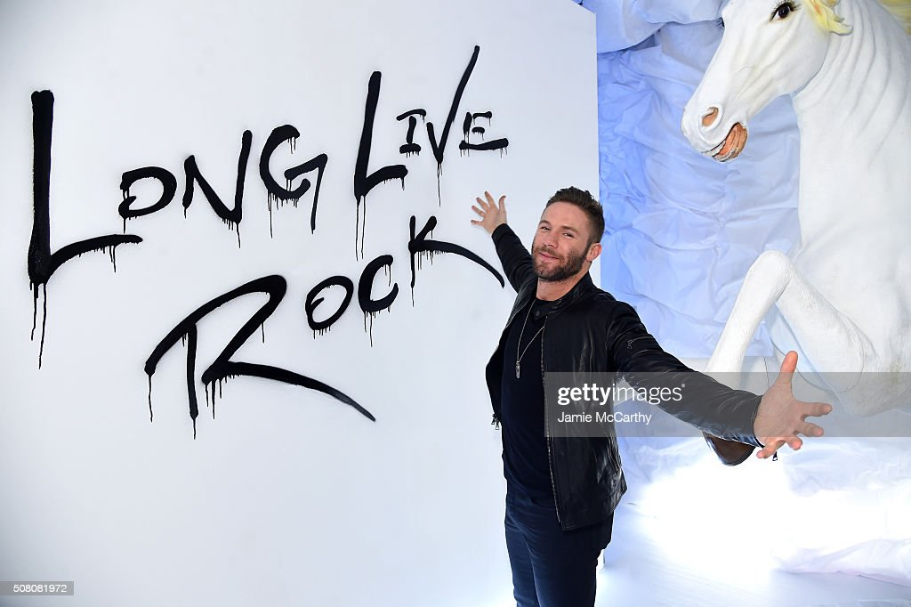 Football player Julian Edelman attends John Varvatos Fall/Winter 2016 Multimedia Experience on February 2, 2016 in New York City.