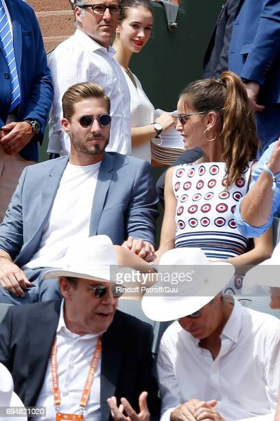 Football player Kevin Trapp and Izabel Goulart attend the Men Final of the 2017 French Tennis Open Day Fithteen at Roland Garros on June 11 2017 in...