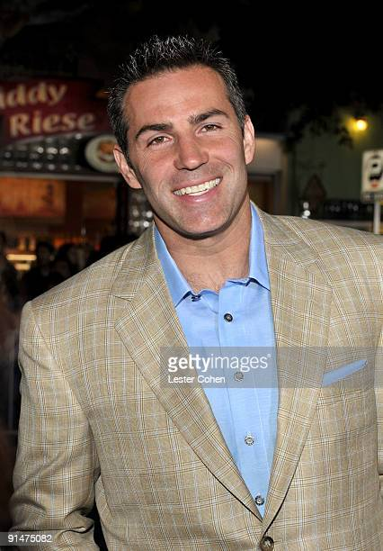 Football player Kurt Warner arrive at the Los Angeles premiere of 'Couples Retreat' held the Mann's Village Theatre on October 5 2009 in Westwood Los...