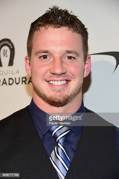 Football player Kyle Emanuel attends Glazer Palooza and Suits and Sneakers on February 3 2016 in San Francisco California