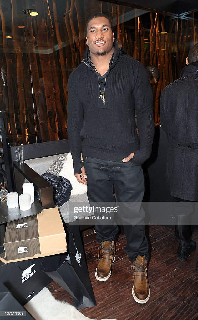 Football player Larry English attends SOREL At VEVO PowerStation SOREL Suite featuring The Fresh Lounge Presented by Continuum Entertainment Group at...