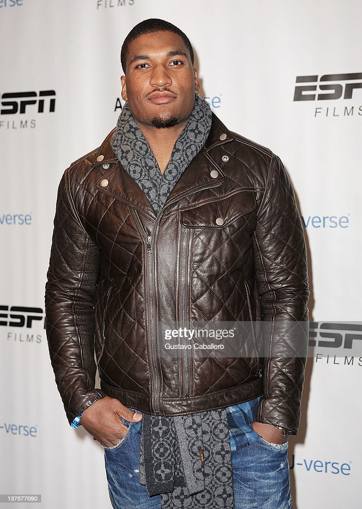 Football Player Larry English attends The ESPN Lounge Presented by ATT Uverse at St Regis Deer Valley on January 22 2012 in Park City Utah