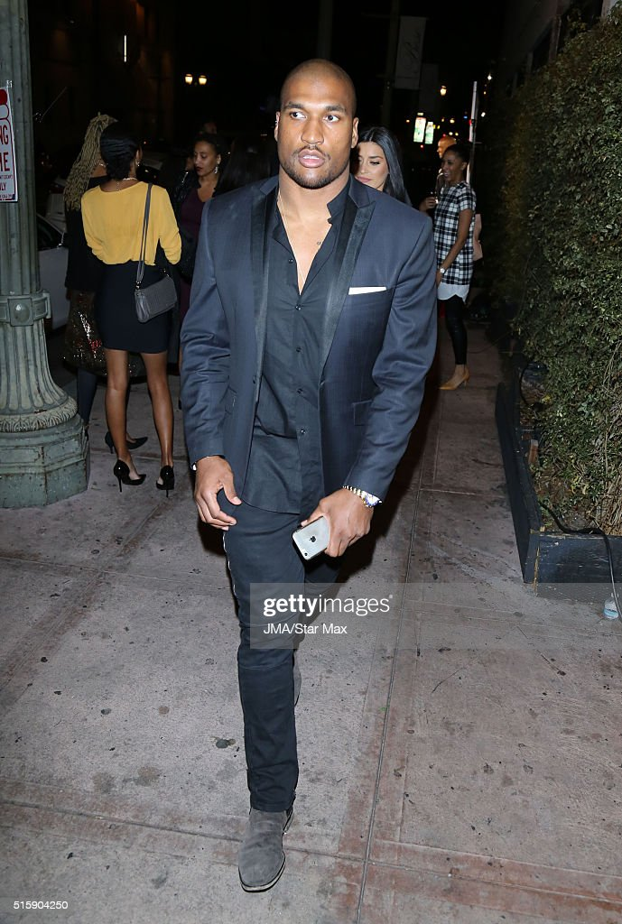 NFL football player Larry English is seen on March 15 2016 in Los Angeles California