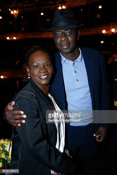 Football player Lilian Thuram and his sister Liliana attend the 24th 'Gala de l'Espoir' at Theatre du Chatelet on November 14 2016 in Paris France