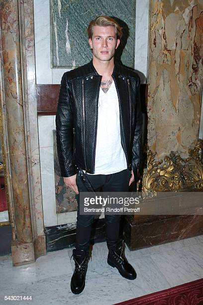 Football player Loris Karius attends the Balmain Menswear Spring/Summer 2017 show as part of Paris Fashion Week on June 25 2016 in Paris France