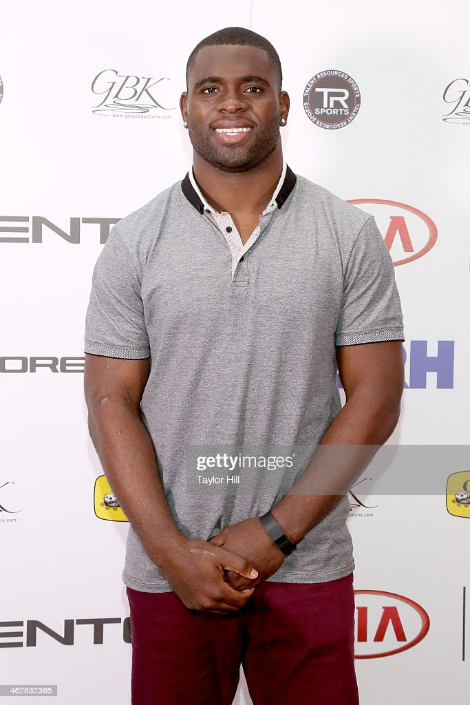 Football player Major Wright attends day one of the Kia Luxury Lounge presented by ZIRH at Scottsdale Center for Performing Arts on January 30 2015...