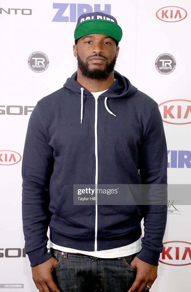Football player Marcel Reece attends day one of the Kia Luxury Lounge presented by ZIRH at Scottsdale Center for Performing Arts on January 30 2015...