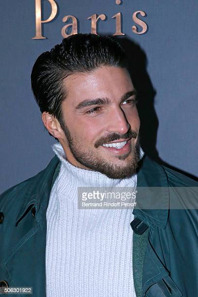 Football Player Marco Di Vaio attends the Berluti Menswear Fall/Winter 20162017 show as part of Paris Fashion Week on January 22 2016 in Paris France