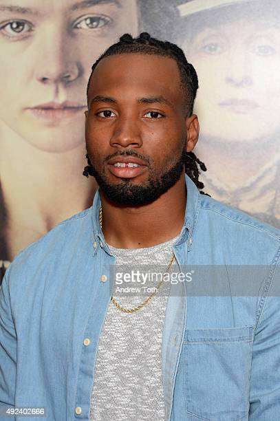Football player Marcus Williams attends the 'Suffragette' New York premiere at Paris Theatre on October 12 2015 in New York City