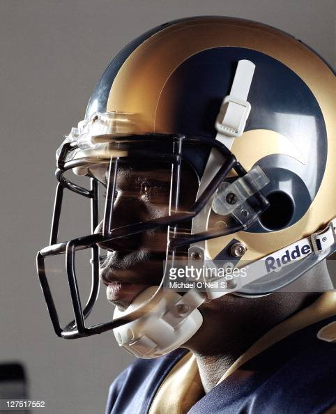 Football player Marshall Faulk is photographed for Sports Illustrated on July 24 2001 in St Louis Missouri Set Number X63451 Published image CREDIT...