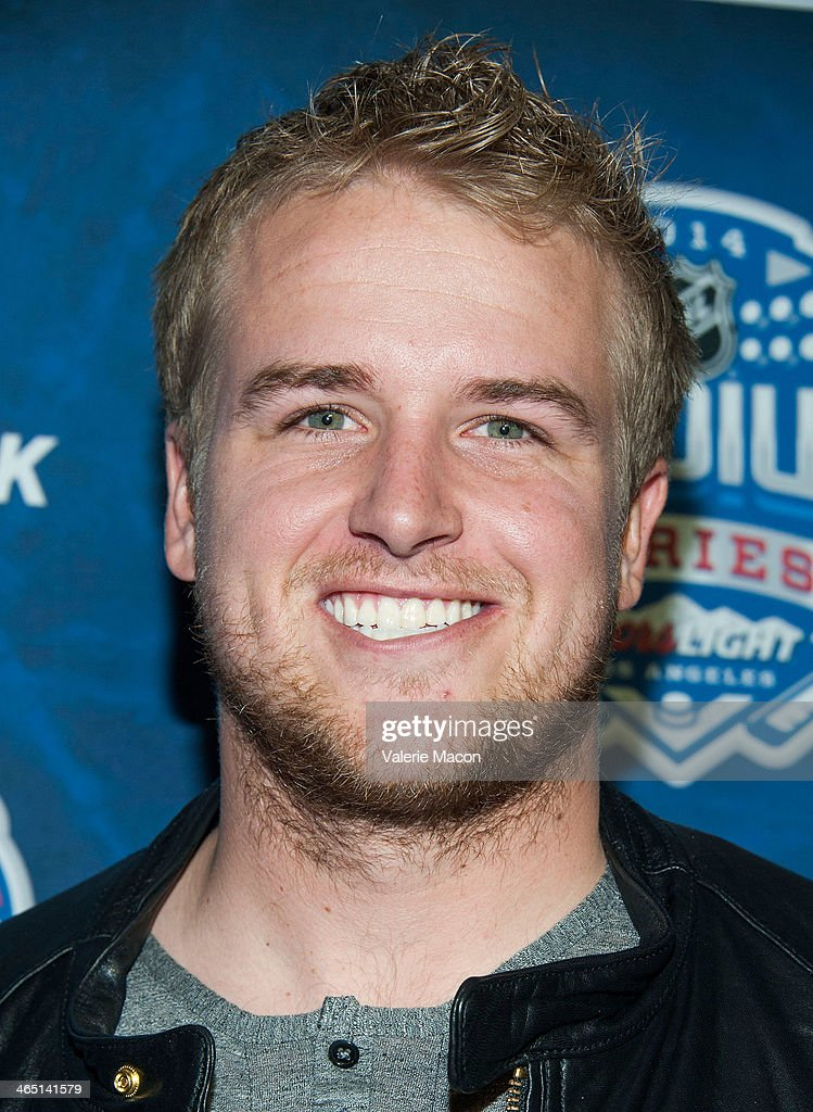 Football player <a gi-track='captionPersonalityLinkClicked' href=/galleries/search?phrase=Matt+Barkley&family=editorial&specificpeople=5528198 ng-click='$event.stopPropagation()'>Matt Barkley</a> arrives at the 2014 Coors Light NHL Stadium Series Los Angeles at Dodger Stadium on January 25, 2014 in Los Angeles, California.