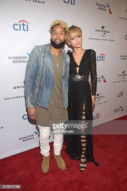 Football player Odell Beckham Jr and actress/singer Zendaya attend Universal Music Group 2016 Grammy After Party presented by American Airlines and...