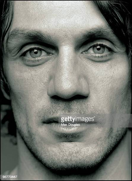 Football Player Paolo Maldini poses for a portrait in shoot in Milan on December 03 2004