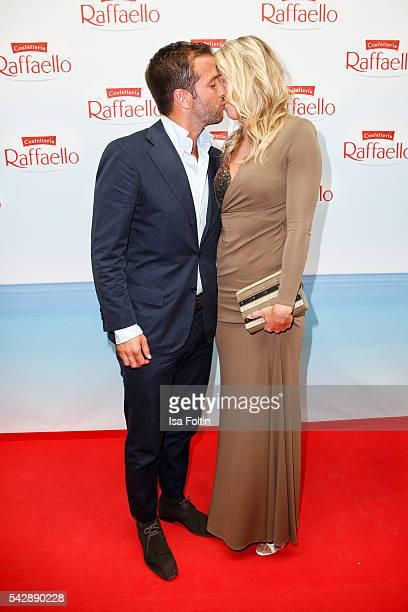 Football player Rafael van der Vaart and his new girlfriend Estavana Polman attend the Raffaello Summer Day 2016 to celebrate the 26th anniversary of...