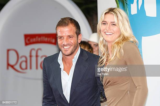 Football player Rafael van der Vaart and his new girlfriend Estavana Polman attend the Raffaello Summer Day 2016 to celebrate the 26th anniversary of...