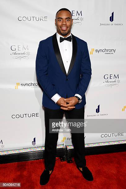 Football player Rashad Jennings attends the 2016 GEM Awards Gala at Cipriani 42nd Street on January 8 2016 in New York City