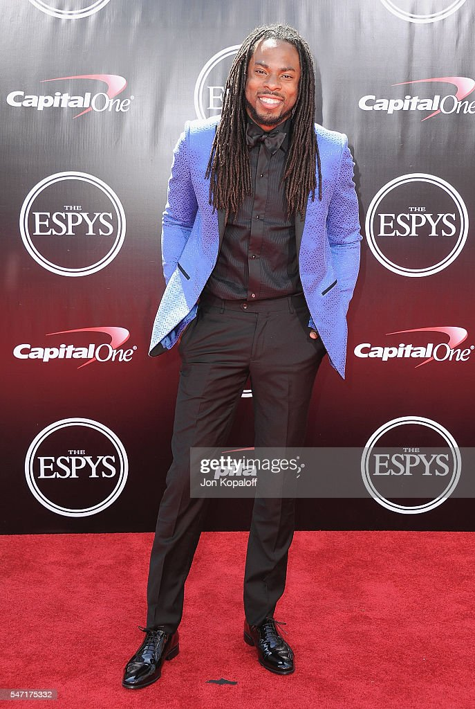 NFL football player Richard Sherman arrives at The 2016 ESPYS at Microsoft Theater on July 13, 2016 in Los Angeles, California.